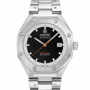 Atlantic Beachboy Steel Black Dial